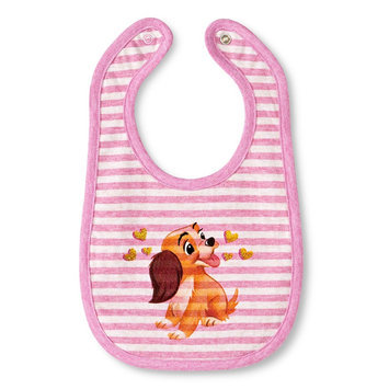 Tawil Associates Disney Newborn Girls' Lady and the Tramp Bib - Pink