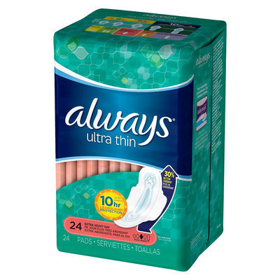 Always Ultra Thin Pads Extra Heavy Day with Flexi-wings