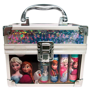 Townley Inc Disney .56oz Lip Balm 4pc with Train Case Assorted