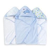 Spasilk Hooded Towels (Pack of 3) - Whale