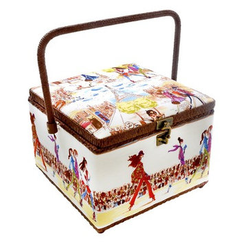 Prym Dritz St. Jane Fashionista Large Sewing Basket