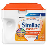 Similac Sensitive Infant Formula Powder, Stage 1 - 1.41lb (6 Pack)