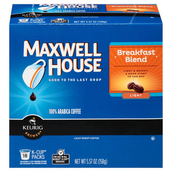 Maxwell House Cafe Collection Breakfast Blend Mild Roast Coffee K-Cups 18 ct