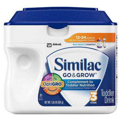 Similac Go & Grow Toddler Formula Powder, Stage 3 - 1.38lb (6 Pack)