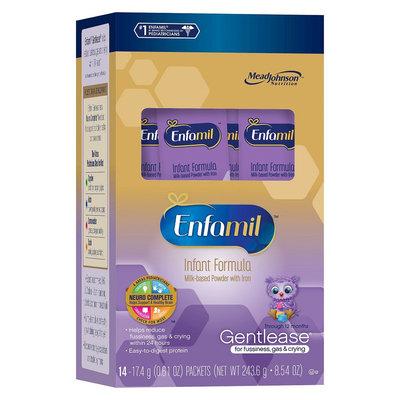 Enfamil Gentlease Infant Formula 14 Single Serve Packets - 56oz (4 Pack)