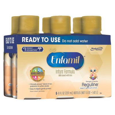 Enfamil Reguline Ready-to-Use Infant Formula, 6 - 8 Fl oz Bottles (4 Pack)