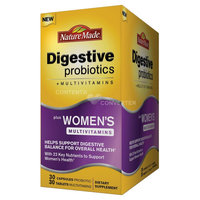 Nature Made Digestive Probiotics + Women's Multivitamin Capules/Tablets - 60 Count