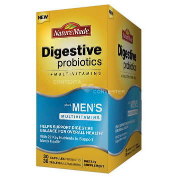 Nature Made Digestive Probiotics + Men's Multivitamin Capsules/Tablets - 60 Count