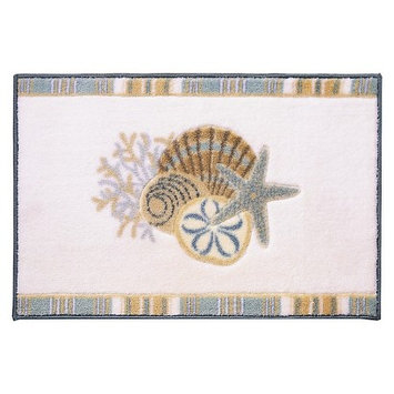 Avanti - By the Sea Bath Rug (White) - Home