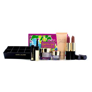 Estée Lauder A Gift For You: Advanced Time Zone, Eye Cream, Body Lotion, Mascara,2x Lipstick, Lipstick Caddy