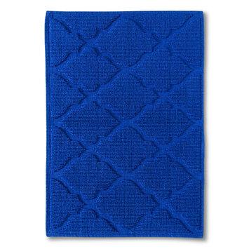 Threshold Woven Solid Bath Mat - Dolphin Blue (21x30