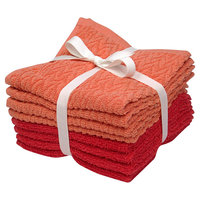 Room Essentials 8-pk. Solid Textured Washcloth Set - Ultra Coral/Georgia Peach