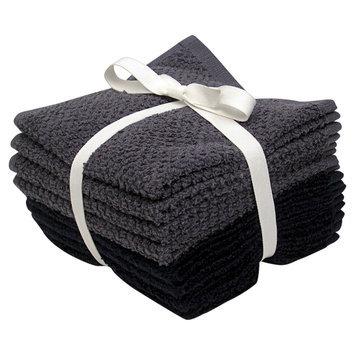 Room Essentials 8-pk. Solid Textured Washcloth Set - Nighttime Blue/Washed Indigo