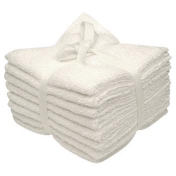 Room Essentials 8-pk. Solid Textured Washcloth Set - True White