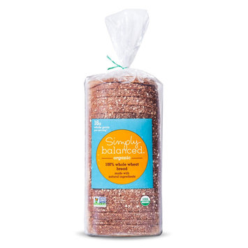 Simply Balanced SB 20oz Organic 100% Whole Wheat Bread