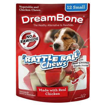 Petmatrix DreamBone Rattle Ball Dog Chews 12 ct