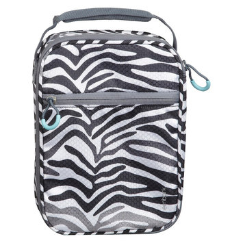 Embark Crushproof Lunch Box 420D Hex Ripstop regular Poly-Print Zebra Size:7.25in H x 10.25in W x 3.5in D