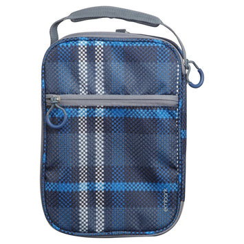 Embark Crushproof Lunch Box 420D Hex Ripstop regular Poly-Print Plaid Size:7.25in H x 10.25in W x 3.5in D