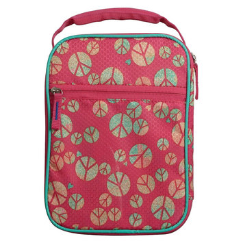 Circo Crushproof Lunch Box 420D Hex Ripstop regular Poly-Print Peace Size:7.25in H x 10.25in W x