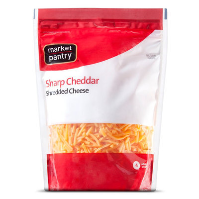 Market Pantry Sharp Cheddar Shreds 16 oz
