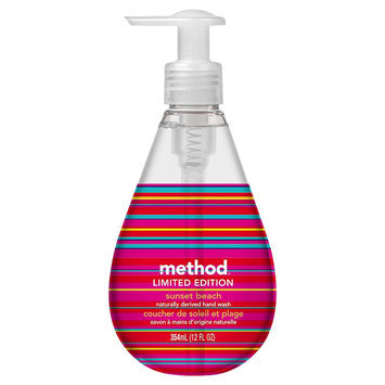 method gel hand wash sunset beach