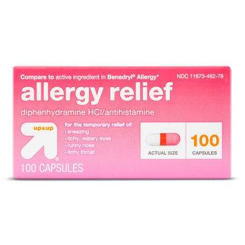 up & up Allergy Relief Antihistamine Capsules - 100 Count