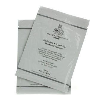 Kiehls Clearly Corrective White Hydrating & Clarifying Treatment Masque (6 Sheets)