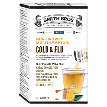 Smith Bros Honey Lemon Cold & Flu Powder - 8 Count