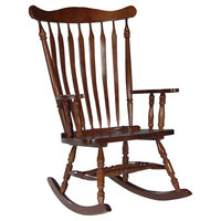 Rocking Chair: International Concepts Solid Wood Rocking Chair - Cherry