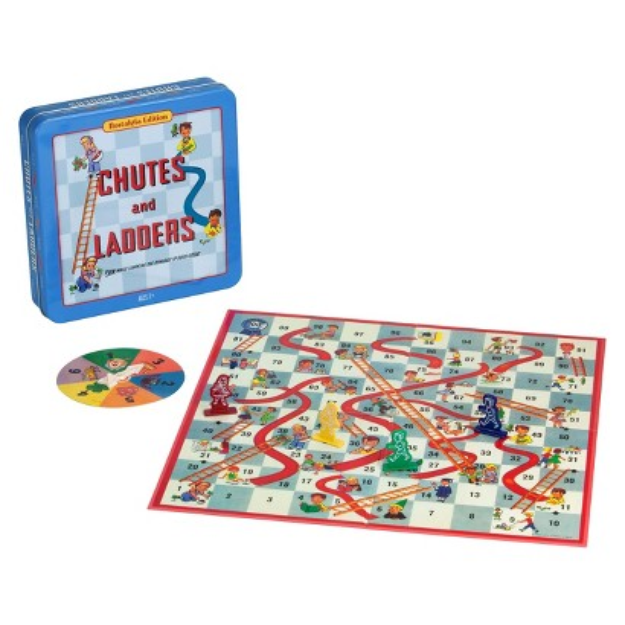 Hasbro Chutes and Ladders Board Game - Nostalgia Edition Game Tin