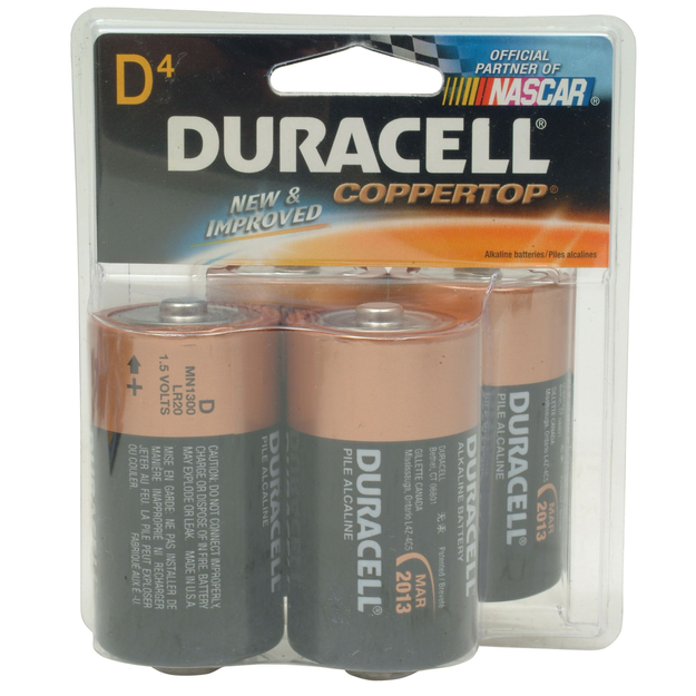 Duracell CopperTop D Alkaline Batteries, 4pk. - DURACELL, INC.