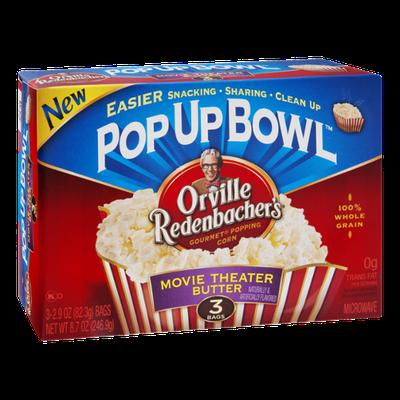 Orville Redenbacher's Movie Theater Butter Popcorn Pop Up Bowl - 3 CT