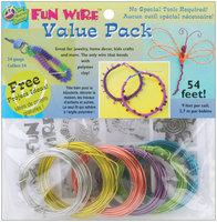 Toner Plastics VP84-84492 Plastic Coated Fun Wire Value Pack 9 Foot Coils