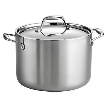 Tramontina Gourmet Tri-Ply Clad Stainless Steel 8 Qt Covered Stock Pot