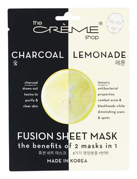 the CRÈME shop Charcoal & Lemon Fusion Sheet Mask