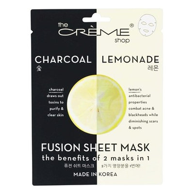 the CRÈME shop Charcoal & Lemon Fusion Sheet Mask