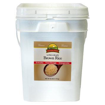 Augason Farms Emergency Food Long Grain Brown Rice, 26 lb