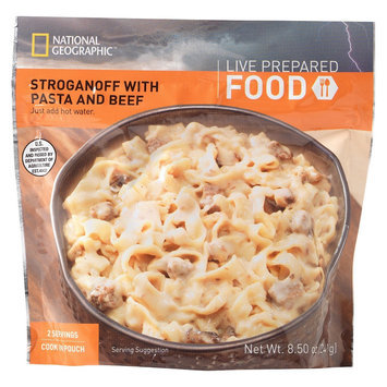 National Geographic Live Prepared Emergency Food Instant Stroganoff with Pasta and Beef 8.5 oz, 2 pk
