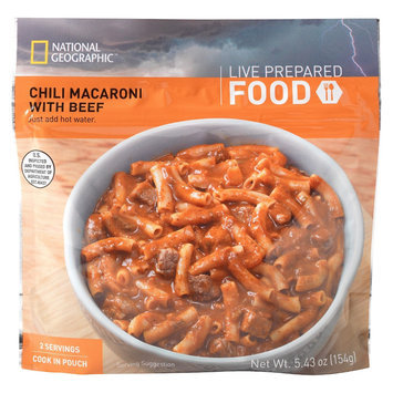 National Geographic Live Prepared Emergency Food Instant Chili Macaroni with Beef 5.43 oz, 2 pk