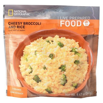 National Geographic Live Prepared Emergency Food Instant Cheesy Broccoli and Rice 8.47 oz, 2 pk