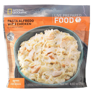 National Geographic Live Prepared Emergency Food Instant Pasta Alfredo with Chicken 8.82 oz, 2 pk