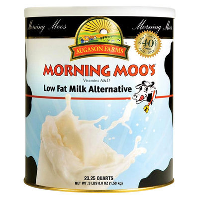 Augason Farms Emergency Food Morning Moos Low Fat Milk Alternative 48 oz