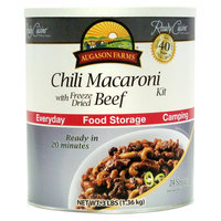 Crown Canyon Augason Farms Ready Cuisine Chili Macaroni with Freeze Dried Beef Kit, 3 lbs