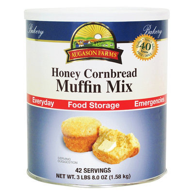 Augason Farms Emergency Food Honey Cornbread Muffin Mix 56 oz