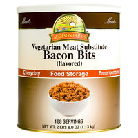 Augason Farms Emergency Food Bacon Bits Flavored Vegetarian Meat Substitute 40 oz