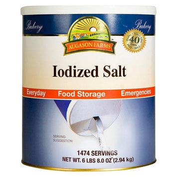 Augason Farms Emergency Food Iodized Salt 104 oz