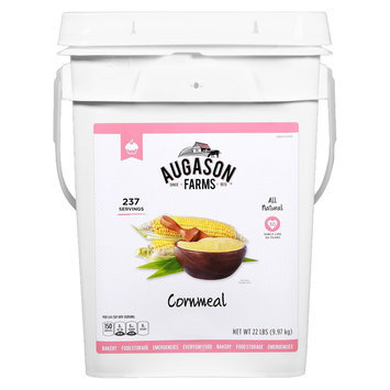 Crown Canyon Augason Farms Emergency Food Cornmeal Pail 22 lbs