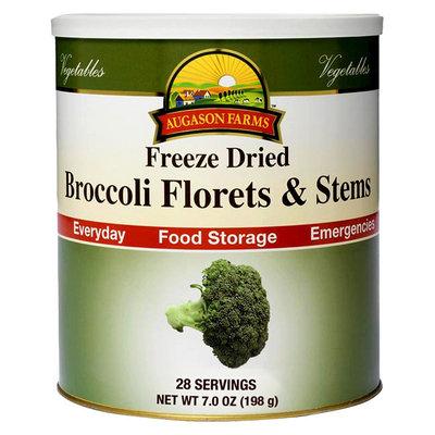 Augason Farms Emergency Food Freeze Dried Broccoli Florets & Stems, 7 oz