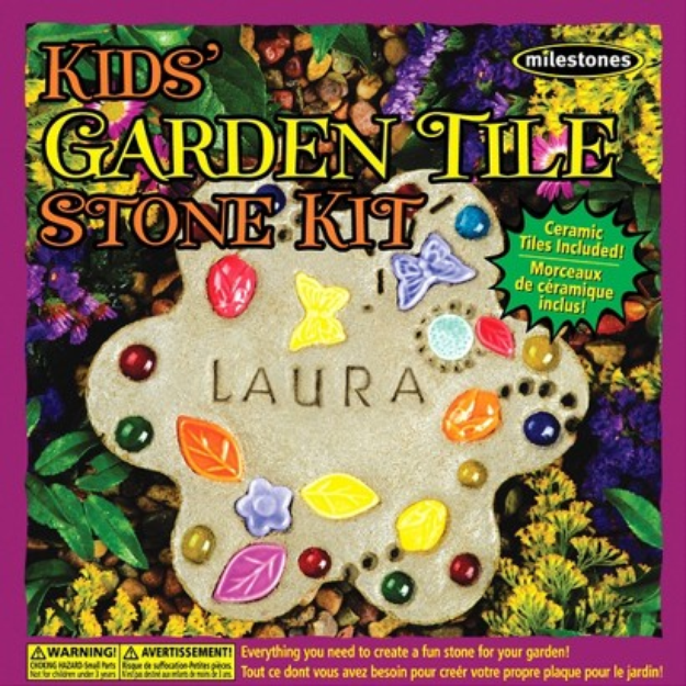 Notions Marketing Milestone Kids Garden Tile Stone Kit
