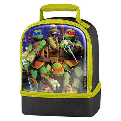 Thermos Turtles Dual Lunch Kit Black